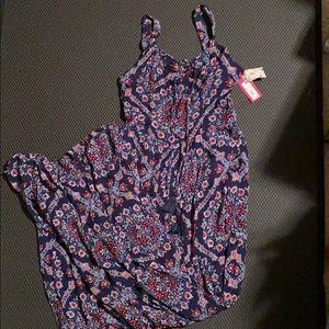 Xhilaration Peasant Printed Jumpsuit NWT